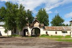 Patio de un monasterio ortodoxo Imagen de archivo libre de regalías