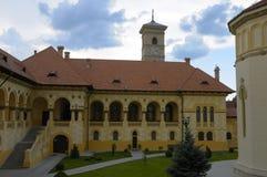 Patio de una abadía ortodoxa foto de archivo libre de regalías