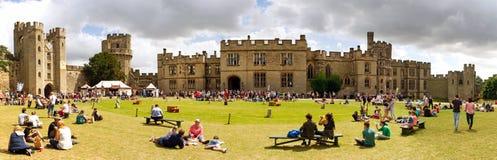 Patio de Warwick Castle Fotografía de archivo