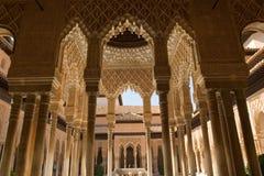 Patio dei leoni a Alhambra Fotografie Stock Libere da Diritti