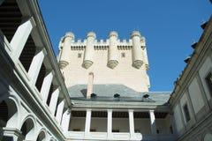 Patio del Alcazar de Segovia Imagenes de archivo