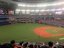 Patio del béisbol de Japón imagenes de archivo