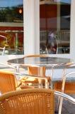Patio del café Imagenes de archivo
