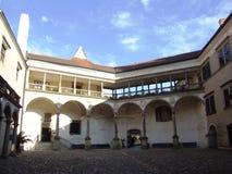 Patio del castillo Foto de archivo libre de regalías