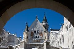 Patio del castillo Imagen de archivo libre de regalías
