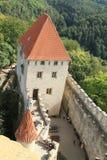 Patio del castillo de Kokorin Fotografía de archivo libre de regalías