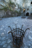 Patio del castillo de Strecno, Eslovaquia Fotografía de archivo libre de regalías
