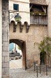 Patio del castillo francés Fotografía de archivo