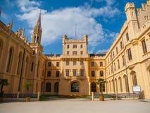 Patio del castillo francés de Lednice Imágenes de archivo libres de regalías