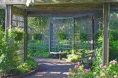 Patio del giardino botanico Immagine Stock Libera da Diritti