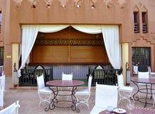 Patio del hotel, Ouarzazate Imagen de archivo libre de regalías