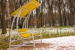 Patio del invierno Imagenes de archivo