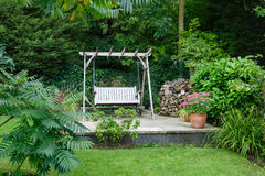 Patio del jardín Foto de archivo libre de regalías