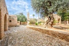 Patio del monasterio de Agia Napa en Chipre 1 Fotografía de archivo