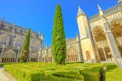 Patio del monasterio de Batalha Foto de archivo