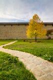 Patio del monasterio de Sucevita Fotografía de archivo libre de regalías