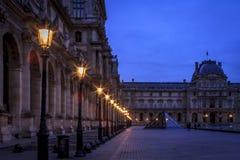 Patio del museo de la lumbrera en París Imagen de archivo libre de regalías
