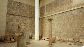 Patio del museo: jefe monumental de Septimius Severus Imagen de archivo libre de regalías