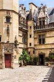 Patio del museo Musee de Cluny de Cluny París, Francia Fotos de archivo libres de regalías