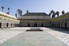 Patio del palazzo di Marrakesh Bahia Fotografia Stock