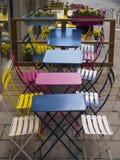 Patio del ristorante nel distretto di Sodermalm di Stoccolma Immagini Stock