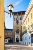Patio del seminario en la ciudad de Bérgamo foto de archivo libre de regalías