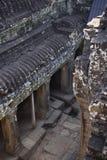 Patio del templo de Bayon Imagen de archivo