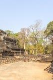 Patio del templo de Phuon de los vagos, Angkor Thom, Siem Reap, Camboya Fotos de archivo
