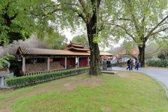 Patio del templo del meishansi Foto de archivo libre de regalías