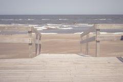 Patio della spiaggia Immagini Stock