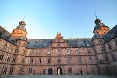 Patio des Johannisburg Schlosses Stockbilder