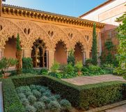 Patio detail of Hispanic Islamic architecture Stock Images