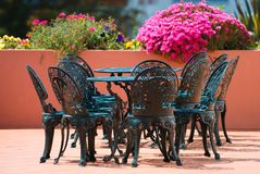 Patio Dining Royalty Free Stock Images