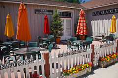Patio dining, Los Alamos, California Royalty Free Stock Photos