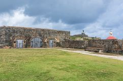 Patio at El Morro in Old San Juan royalty free stock photos