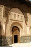 Patio en Ben Youssef Medrassa en Marrakesh Fotografía de archivo libre de regalías