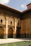 Patio en Ben Youssef Medrassa en Marrakesh Fotos de archivo libres de regalías