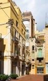 Patio en ciudad vieja Barcelona Foto de archivo