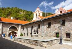 Patio en el monasterio famoso de Kykkos Imagenes de archivo
