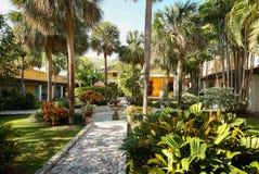 Patio en Fort Lauderdale, la Florida, los E.E.U.U. de la casa del capo imagen de archivo libre de regalías