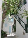 Patio en Grecia Foto de archivo