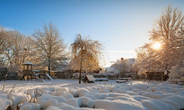 Patio en invierno Foto de archivo libre de regalías