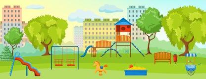Patio en la composición del parque stock de ilustración