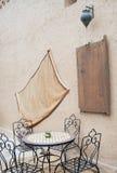 Patio en Marruecos Imágenes de archivo libres de regalías
