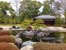 Patio en palacio japonés foto de archivo libre de regalías