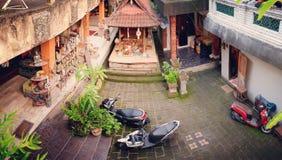 Patio en Ubud, Bali, Indonesia foto de archivo