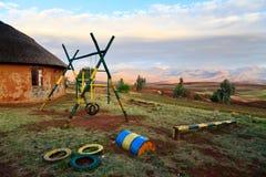 Patio en una escuela en África fotos de archivo libres de regalías