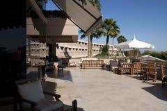 Patio esterno dell'hotel di ricorso dell'Arizona Immagini Stock Libere da Diritti