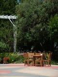 Patio et jardin Images libres de droits