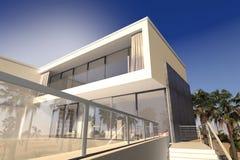 Patio et salons extérieurs d'une maison de luxe images libres de droits